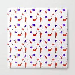 Colorful drops Metal Print