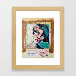 """Be Heard"", Tea Bag Portrait Framed Art Print"