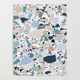 Pastel Terrazzo Poster