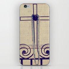 Mardi Gras Cross iPhone & iPod Skin
