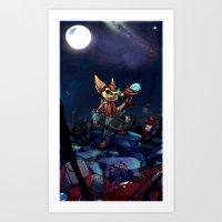 heroes Art Prints featuring Heroes by Viivi K