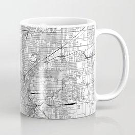 Indianapolis White Map Coffee Mug