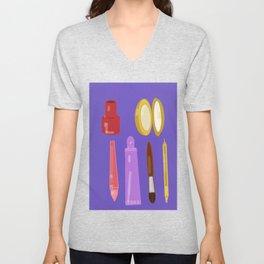 beauty products violet . art Unisex V-Neck