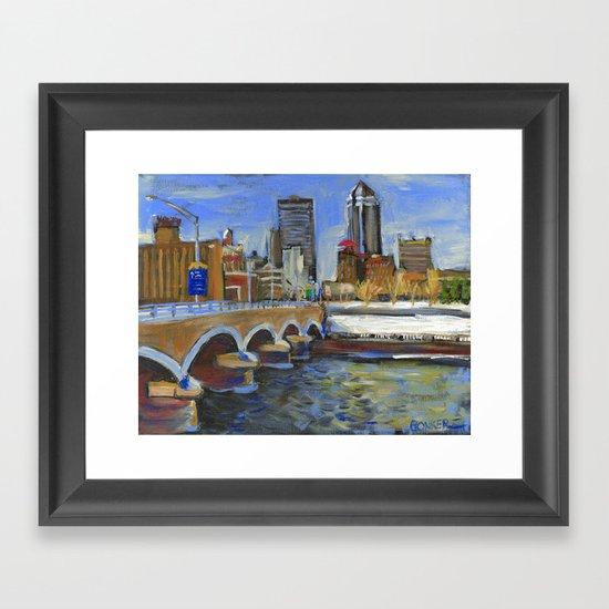 Des Moines, Iowa Framed Art Print