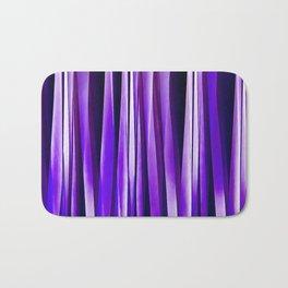 Royal Purple, Lilac and Silver Stripy Pattern Bath Mat