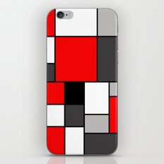 Red Black and Grey squares iPhone & iPod Skin