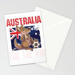 Soccer Football Championship Goal Nation Penalty Australia Stationery Cards