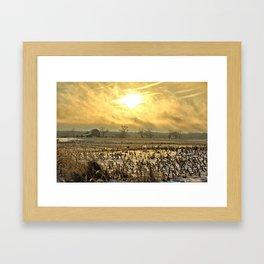 Overcast Sunrise 2 Framed Art Print