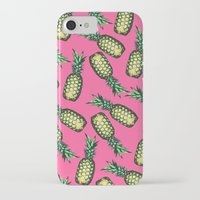 georgiana paraschiv iPhone & iPod Cases featuring Pineapple Pattern by Georgiana Paraschiv