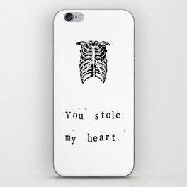 You Stole My Heart Anatomy Print iPhone Skin