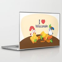 coraline Laptop & iPad Skins featuring Ernest and Coraline | I love Wisconsin by Hisame Artwork