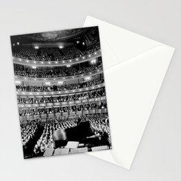 Metropolitan Opera House, New York City black and white photography / black and white photographs Stationery Cards