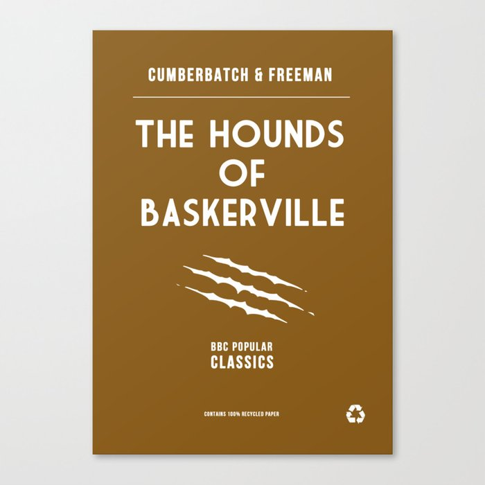 BBC Sherlock The Hounds of Baskerville Minimalist Poster Canvas Print