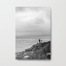 Fishing the Irish Coast Metal Print