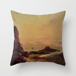 Ferdinand du Puigaudeau - The Standing Stone Throw Pillow