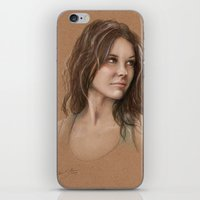 kate bishop iPhone & iPod Skins featuring Kate by Jackie Sullivan