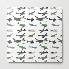 Multiple WW2 Airplanes Metal Print