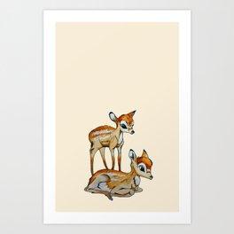 Darling Fawns  Art Print