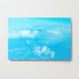 Aerial Turquoise Clouds Metal Print
