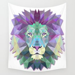 Colorful Lion Wall Tapestry