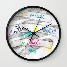 skinny love Wall Clock