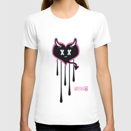 Evil Heart with Devil's Horns, Tail and Skulls T-shirt