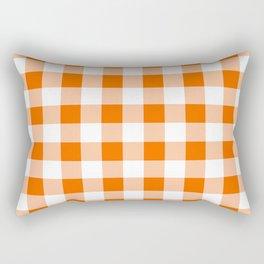 Orange Check Rectangular Pillow