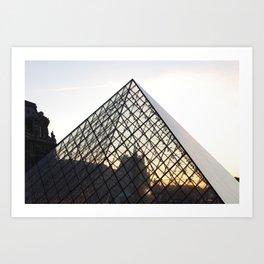 Abstract Louvre Pyramid Art Print