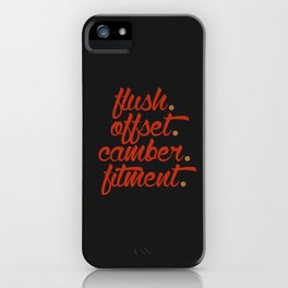 flush offset camber fitment v1 HQvector iPhone Case