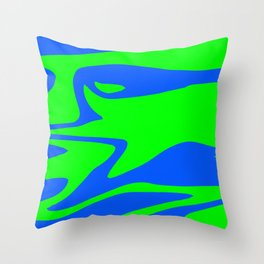 Wild: Blue and Green Throw Pillow
