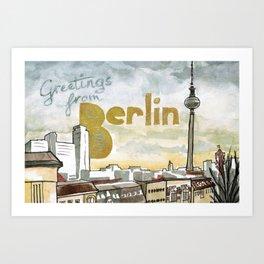Greetings from Berlin Art Print