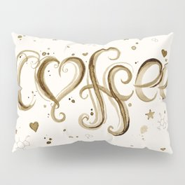 Coffee Molecules Caffeine Pillow Sham