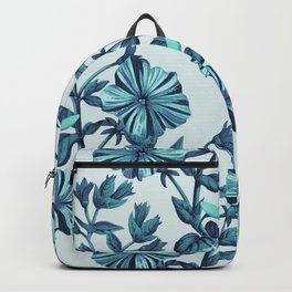 Morning Glories in Blue Backpack