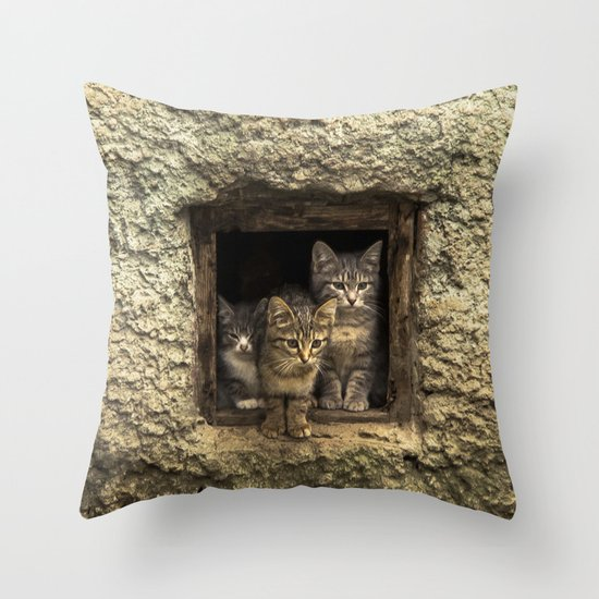It's warm together! Throw Pillow