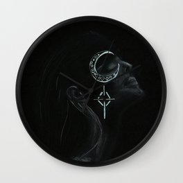 Eye of the Moon Wall Clock
