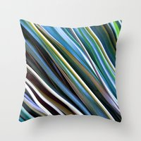 catcher in the rye Throw Pillows featuring Beach Rye by artstrata