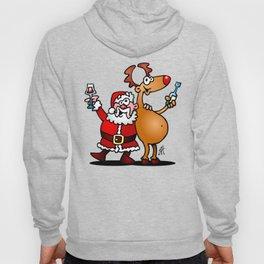 Santa Claus and his Reindeer Hoody