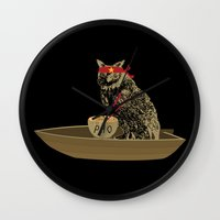 vietnam Wall Clocks featuring Vietnam Owl by October's Very Own