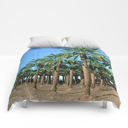 Date Palm Trees Comforters