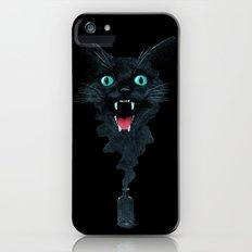 Black Cat Magic iPhone (5, 5s) Slim Case