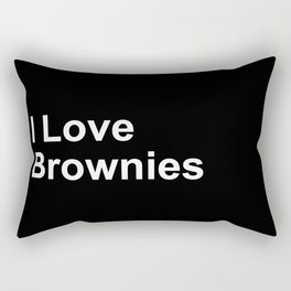 I Love Brownies Rectangular Pillow