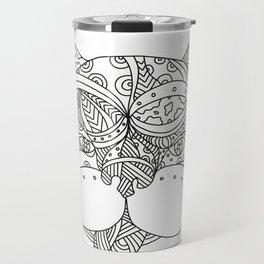 French Bulldog Doodle Art Travel Mug