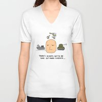 putin V-neck T-shirts featuring A guy named Putin  by Adrian Roman