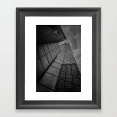 looking up; feeling grey... Framed Art Print