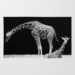 Black and White Giraffes Two Giraffes Rug