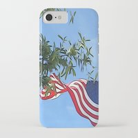 american flag iPhone & iPod Cases featuring American Flag  by KCavender Designs