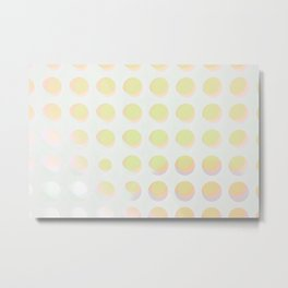 An abstract array of dots in bright cheerful whites and colors Metal Print