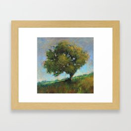 the orchard's ladder Framed Art Print