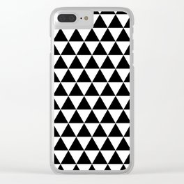 Triangle Tessellation Clear iPhone Case
