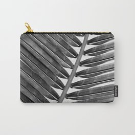 Palm Leaf 2 - Black & White Carry-All Pouch